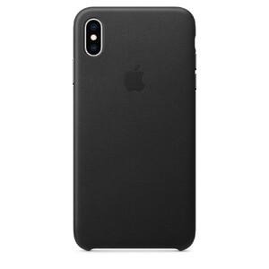 Купить Кожаный чехол Apple Leather Case Black (MRWT2) для iPhone XS Max