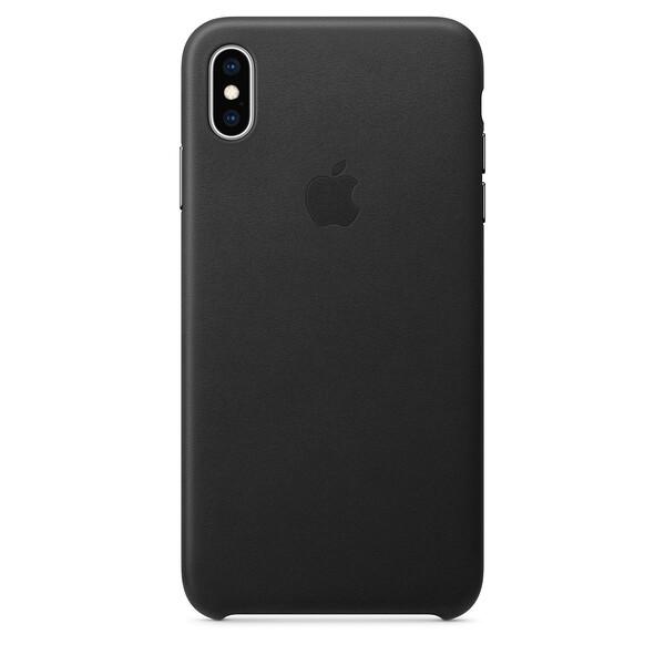 Кожаный чехол Apple Leather Case Black (MRWT2) для iPhone XS Max