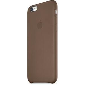 Оригинальный кожаный чехол Apple Leather Case Olive Brown для iPhone 6