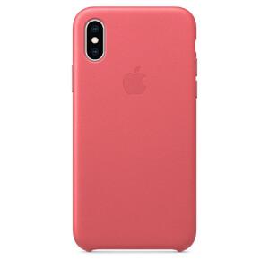 Купить Кожаный чехол Apple Leather Case Peony Pink (MTEU2) для iPhone XS/X