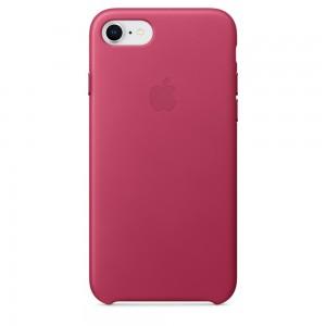 Купить Кожаный чехол Apple Leather Case Pink Fuchsia (MQHG2) для iPhone 8/7