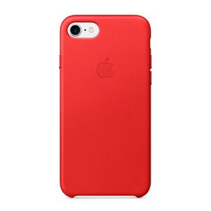 Купить Кожаный чехол Apple Leather Case (PRODUCT) RED (MMY62) для iPhone 7/8