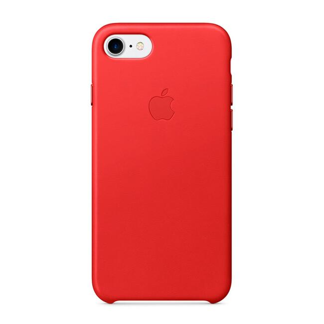 Кожаный чехол Apple Leather Case (PRODUCT) RED (MMY62) для iPhone 7