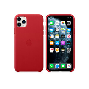 Купить Кожаный чехол Apple Leather Case (PRODUCT) Red (MWYF2) для iPhone 11 Pro