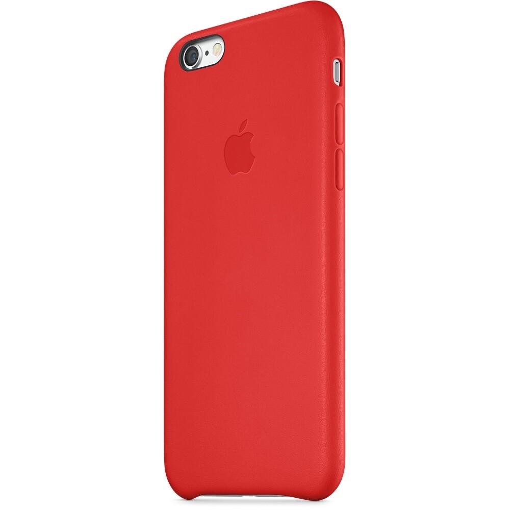 Кожаный чехол Apple Leather Case (PRODUCT) Red (MGR82) для iPhone 6/6s