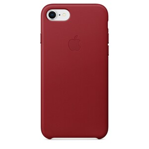 Купить Кожаный чехол Apple Leather Case (PRODUCT) RED (MQHA2) для iPhone 7/8/SE 2020