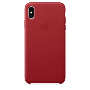 Купить Кожаный чехол Apple Leather Case (PRODUCT) RED (MRWQ2) для iPhone XS Max