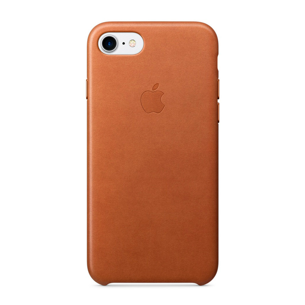 Кожаный чехол Apple Leather Case Saddle Brown (MMY22) для iPhone 7/8