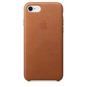 Купить Кожаный чехол Apple Leather Case Saddle Brown (MQH72) для iPhone 8/7