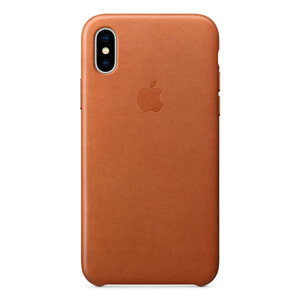 Купить Кожаный чехол Apple Leather Case Saddle Brown (MQTA2) для iPhone X