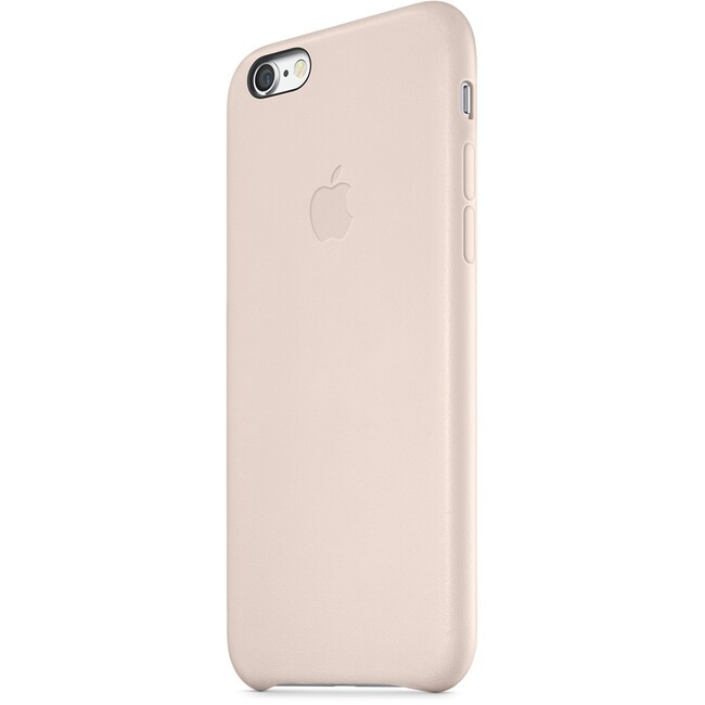 Кожаный чехол Apple Leather Case Soft Pink (MGR52) для iPhone 6/6s