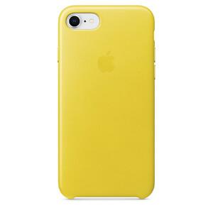 Купить Кожаный чехол Apple Leather Case Spring Yellow (MRG72) для iPhone 8/7