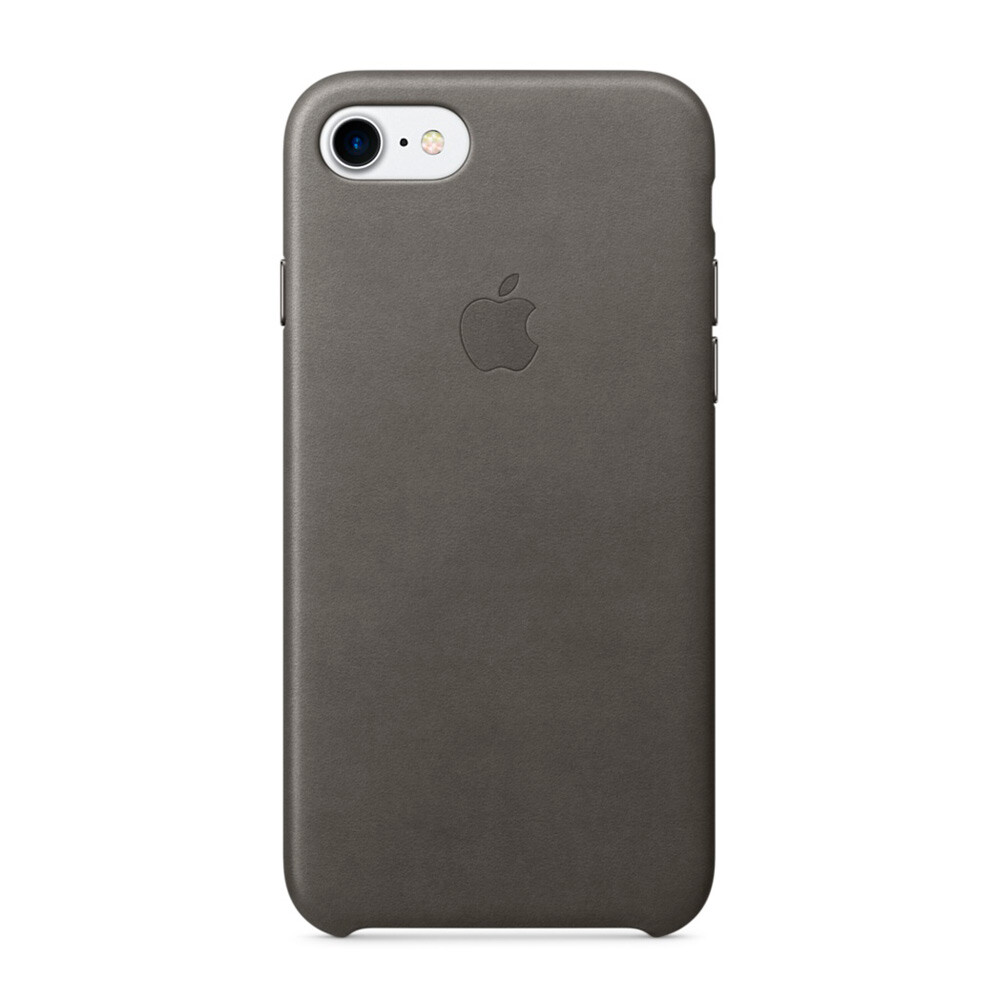 Кожаный чехол Apple Leather Case Storm Gray (MMY12) для iPhone 7/8