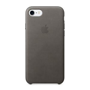 Купить Кожаный чехол Apple Leather Case Storm Gray (MMY12) для iPhone 7