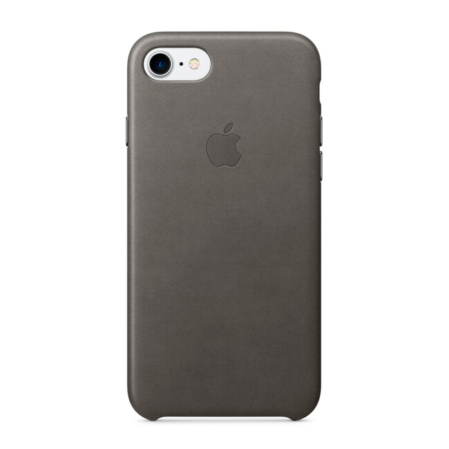 Кожаный чехол Apple Leather Case Storm Gray (MMY12) для iPhone 7