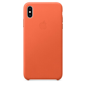 Купить Кожаный чехол Apple Leather Case Sunset (MVFY2) для iPhone XS Max
