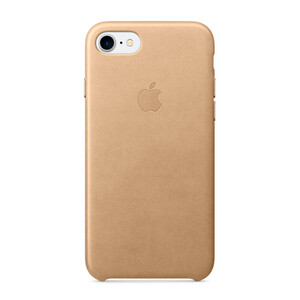 Купить Кожаный чехол Apple Leather Case Tan (MMY72) для iPhone 7