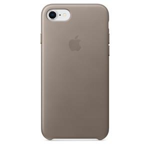 Купить Кожаный чехол Apple Leather Case Taupe (MQH62) для iPhone 8/7