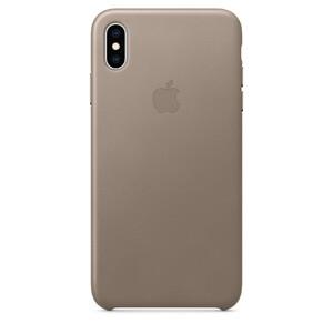 Купить Кожаный чехол Apple Leather Case Taupe (MRWR2) для iPhone XS Max
