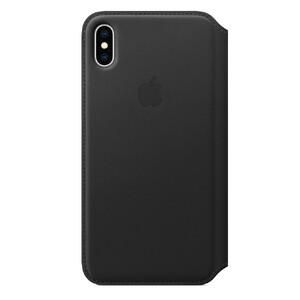 Купить Кожаный чехол-книжка Apple Leather Folio Black (MRX22) для iPhone XS Max