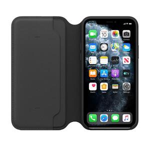 Купить Кожаный чехол-книжка Apple Leather Folio Black (MX062) для iPhone 11 Pro