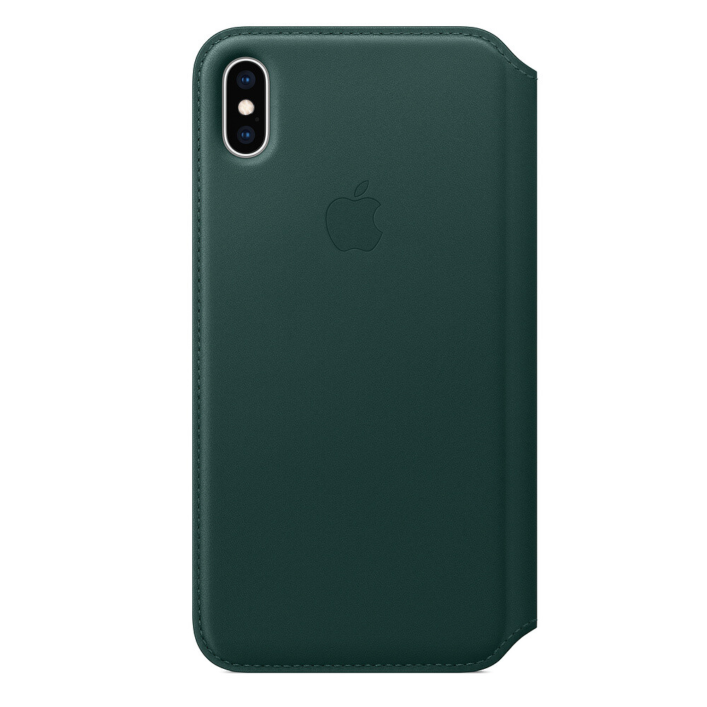 Кожаный чехол-книжка Apple Leather Folio Forest Green (MRX42) для iPhone XS Max