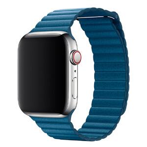 Купить Ремешок Apple  Leather Loop Cape Cod Blue Large (MTHA2) для Apple Watch 42mm/44mm Series 1/2/3/4