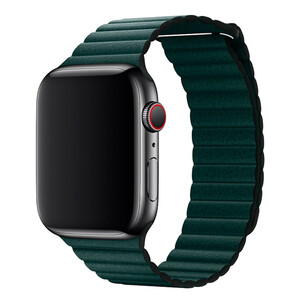 Купить Ремешок Apple  Leather Loop Forest Green Large (MTH82) для Apple Watch 42mm/44mm Series 1/2/3/4