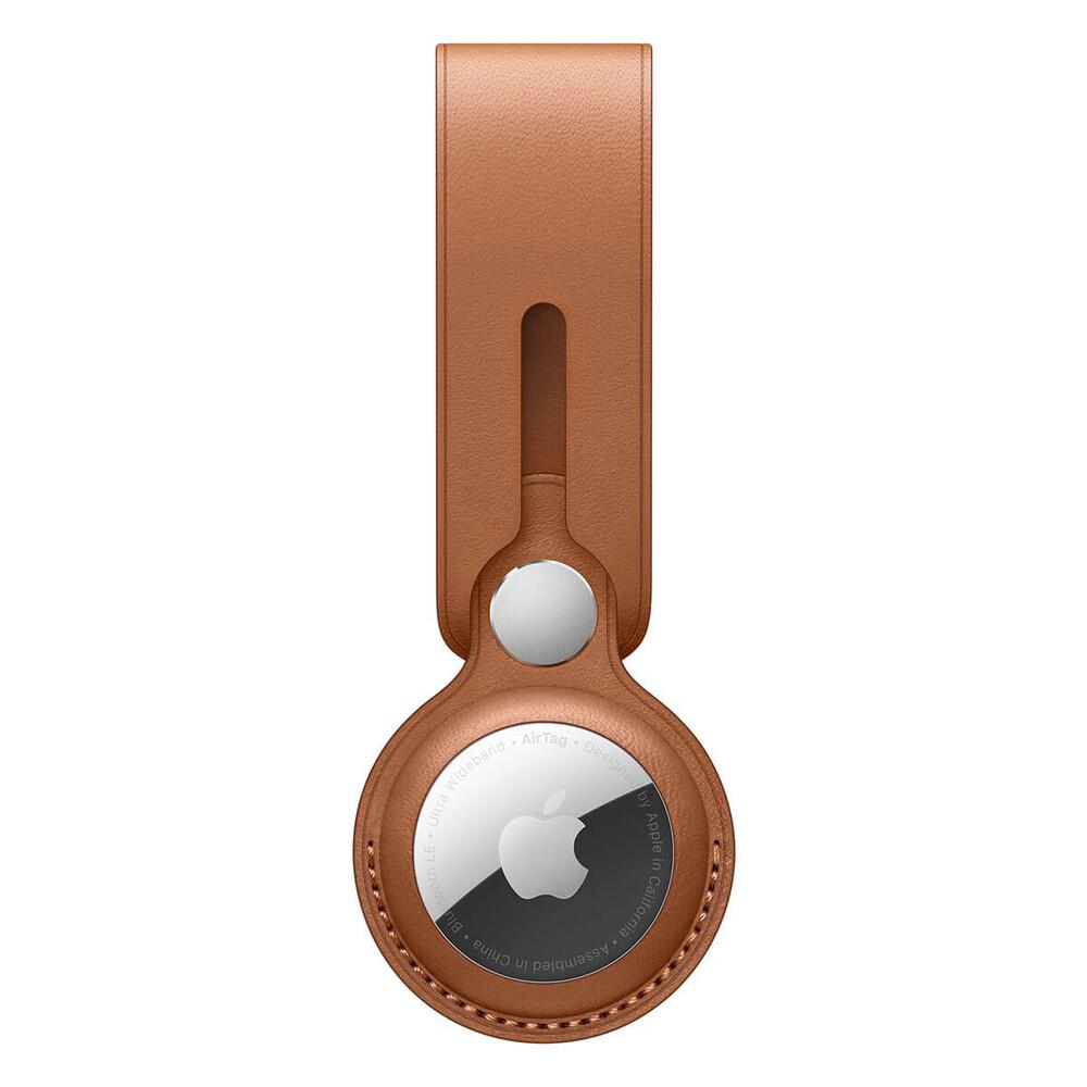 Купить Кожаный брелок-петля Apple Leather Loop Saddle Brown (MX4A2) для AirTag