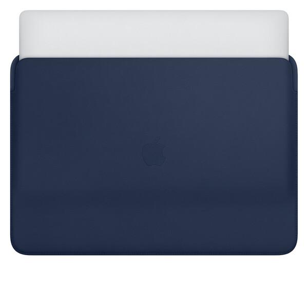 """Кожаный чехол Apple Leather Sleeve Midnight Blue (MWVC2) для MacBook Pro 16"""""""