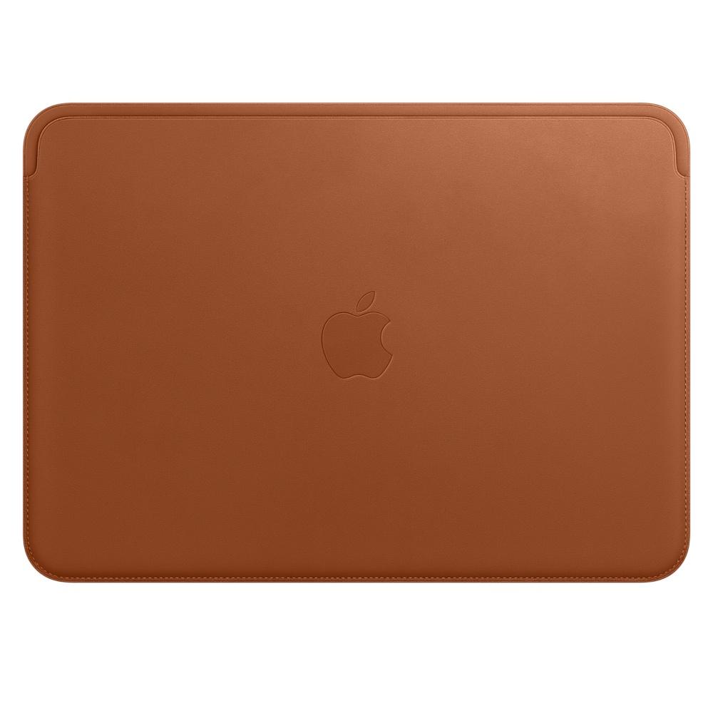 "Купить Кожаный чехол Apple Leather Sleeve Saddle Brown (MQG12) для MacBook 12"""