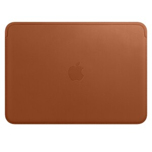 Купить Кожаный чехол Apple Leather Sleeve Saddle Brown (MQG12) для MacBook 12""