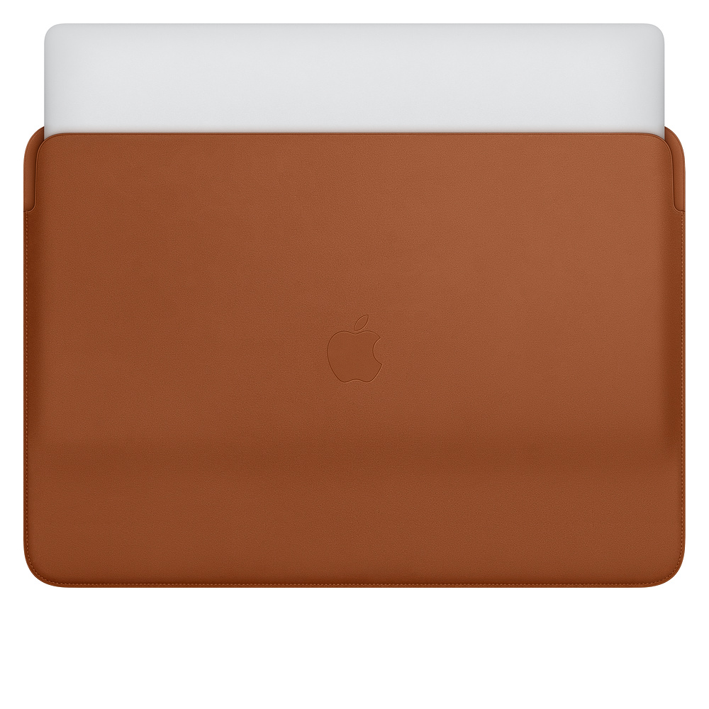 "Купить Кожаный чехол Apple Leather Sleeve Saddle Brown (MWV92) для MacBook Pro 16"""