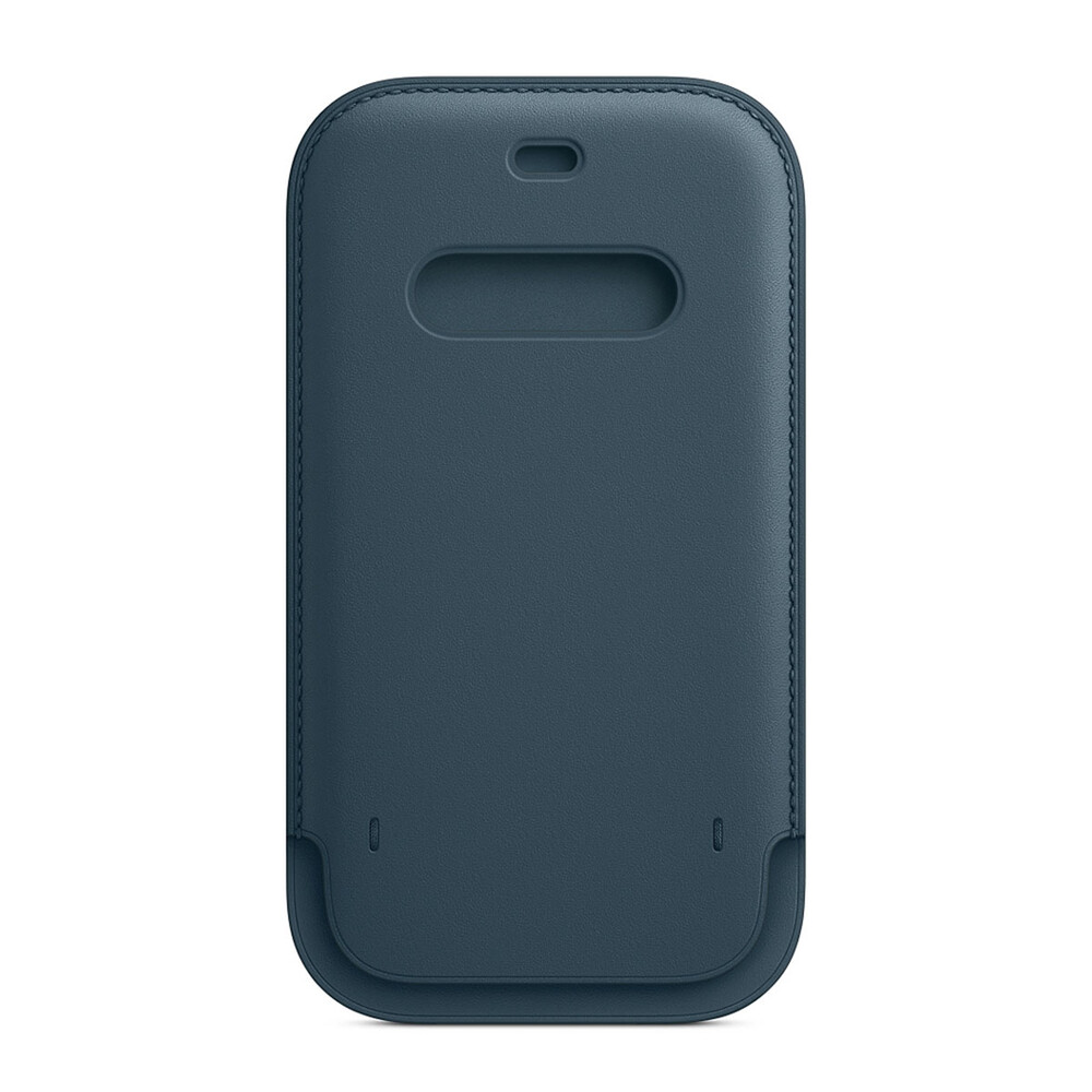 Купить Кожаный чехол-бумажник Apple Leather Sleeve with MagSafe Baltic Blue (MHYH3) для iPhone 12 Pro Max