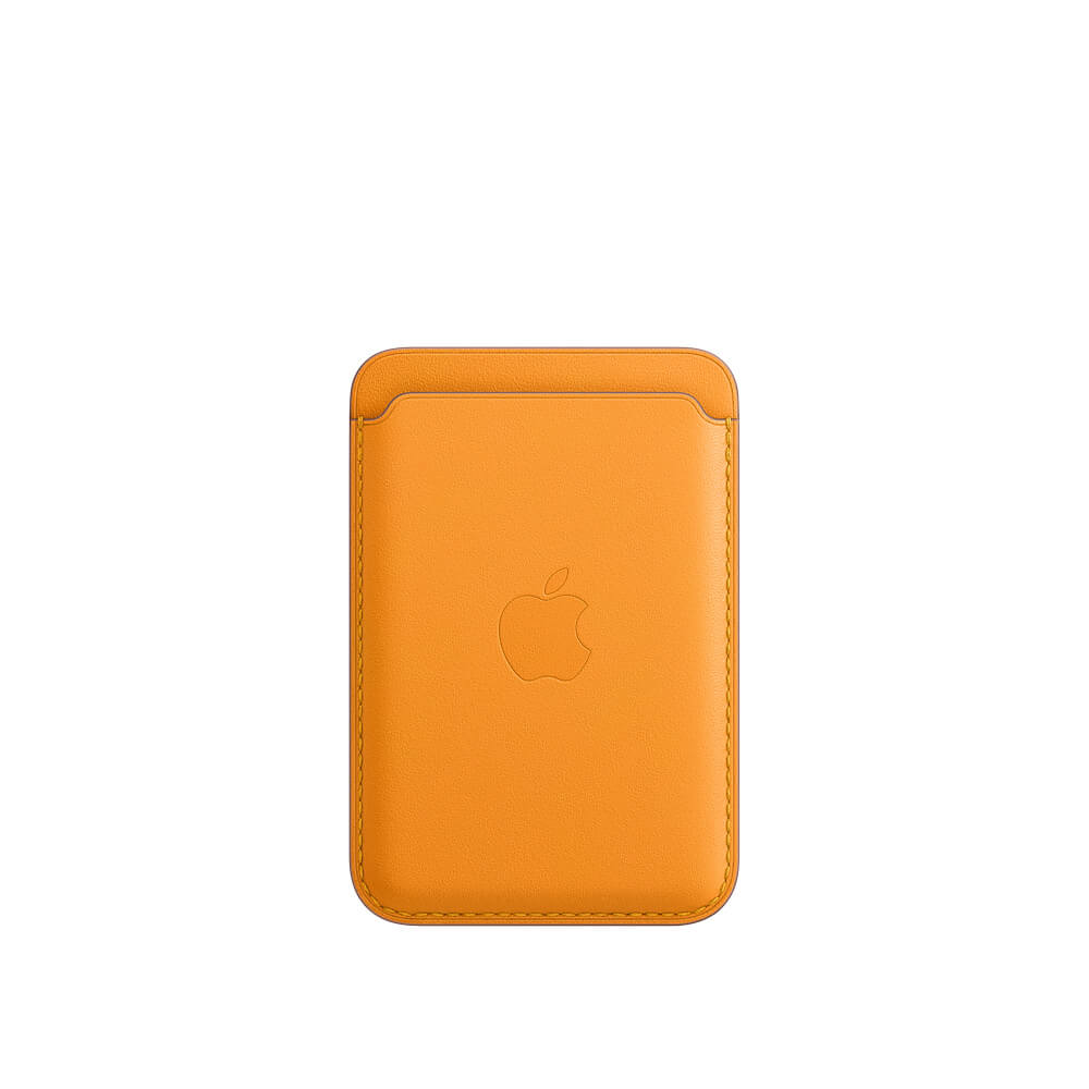 Купить Кожаный чехол-бумажник Apple Leather Wallet California Poppy (MHLP3) для iPhone 12 | 12 mini | 12 Pro | 12 Pro Max