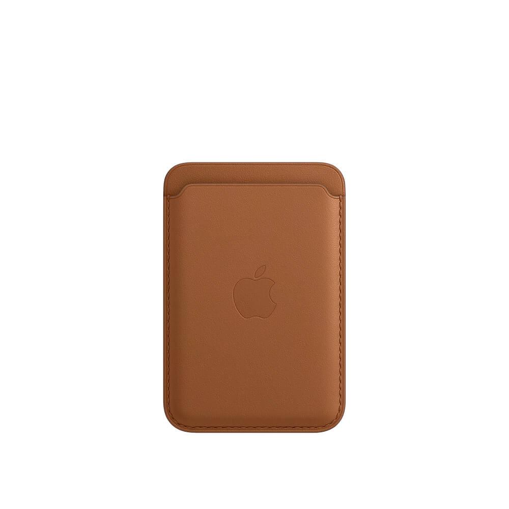 Купить Кожаный чехол-бумажник Apple Leather Wallet MagSafe Saddle Brown (MHLT3) для iPhone 12 | 12 mini | 12 Pro | 12 Pro Max