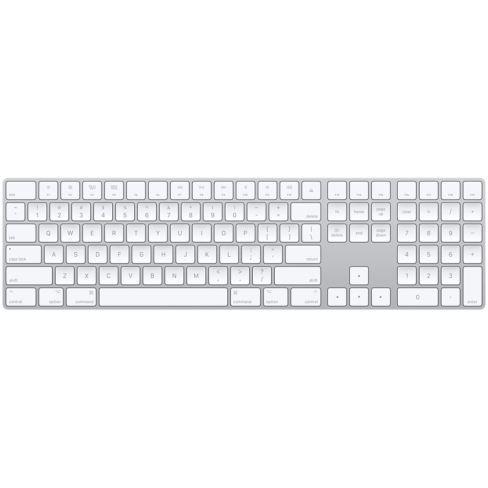 Купить Клавиатура Apple Magic Keyboard with Numeric Keypad Silver (MQ052)