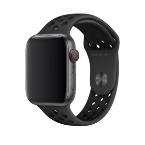 Купить Ремешок Apple Nike Sport Band Anthracite/Black S/M&M/L (MTMX2) для Apple Watch 44mm/42mm Series 1/2/3/4