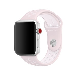 Купить Ремешок Apple Nike Sport Band Barely Rose/Pearl Pink (MRHN2) S/M&M/L для Apple Watch 42mm Series 1/2/3