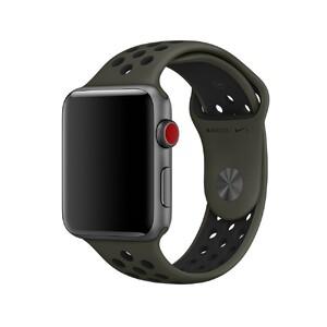 Купить Ремешок Apple Nike Sport Band Cargo Khaki/Black (MRHP2) S/M&M/L для Apple Watch 42mm Series 1/2/3