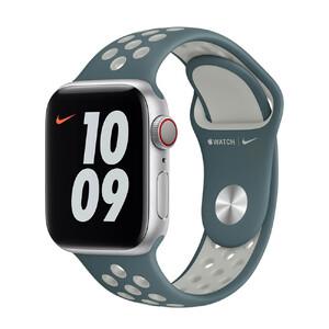 Купить Ремешок Apple Nike Sport Band Hasta | Light Silver (MJ6K3) для Apple Watch 44mm | 42mm Series SE | 6 | 5 | 4 | 3 | 2 | 1