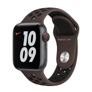 Купить Ремешок Apple Nike Sport Band Ironstone | Black (MJ6M3) для Apple Watch 44mm | 42mm Series SE | 6 | 5 | 4 | 3 | 2 | 1