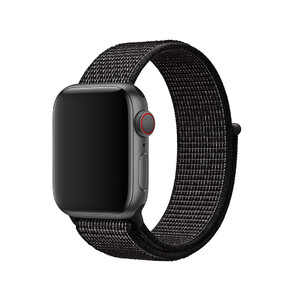 Купить Ремешок Apple Nike Sport Loop Black (MV7A2) для Apple Watch 40mm/38mm Series 1/2/3/4
