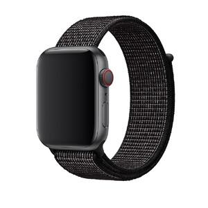 Купить Ремешок Apple Nike Sport Loop Black (MV7L2) для Apple Watch 44mm/42mm Series 1/2/3/4