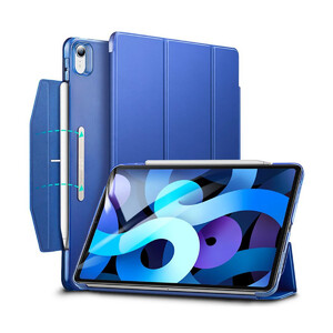 Купить Чехол-книжка с держателем для Apple Pencil ESR Ascend Trifold Blue для iPad Air 4 (2020)