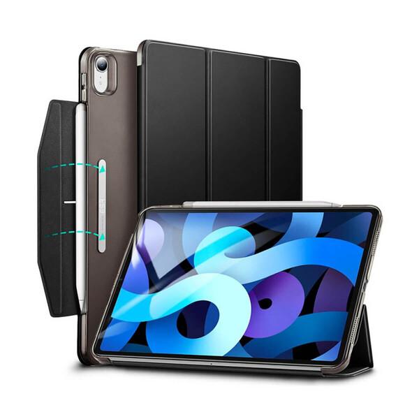Черный чехол-книжка с держателем для Apple Pencil ESR Ascend Trifold Black для iPad Air 4 (2020)