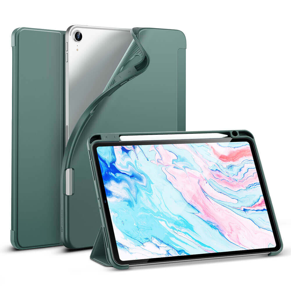 Чехол-книжка с держателем для Apple Pencil ESR Rebound Pencil Cactus Green для iPad Air 4 (2020)