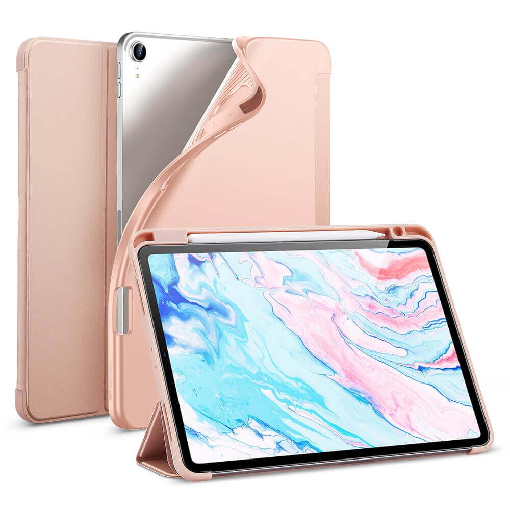 Чехол-книжка с держателем для Apple Pencil ESR Rebound Pencil Rose Gold для iPad Air 4 (2020)