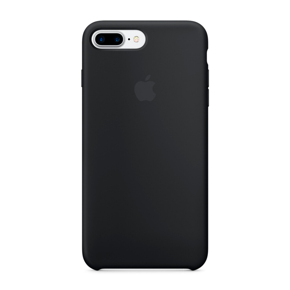 Силиконовый чехол Apple Silicone Case Black (MMQR2) для iPhone 7 Plus 8 Plus 488e049d0113a