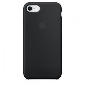 Купить Силиконовый чехол Apple Silicone Case Black (MQGK2) для iPhone 8/7